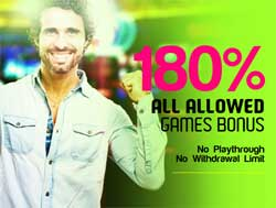 180% All Allowed Game Bonus